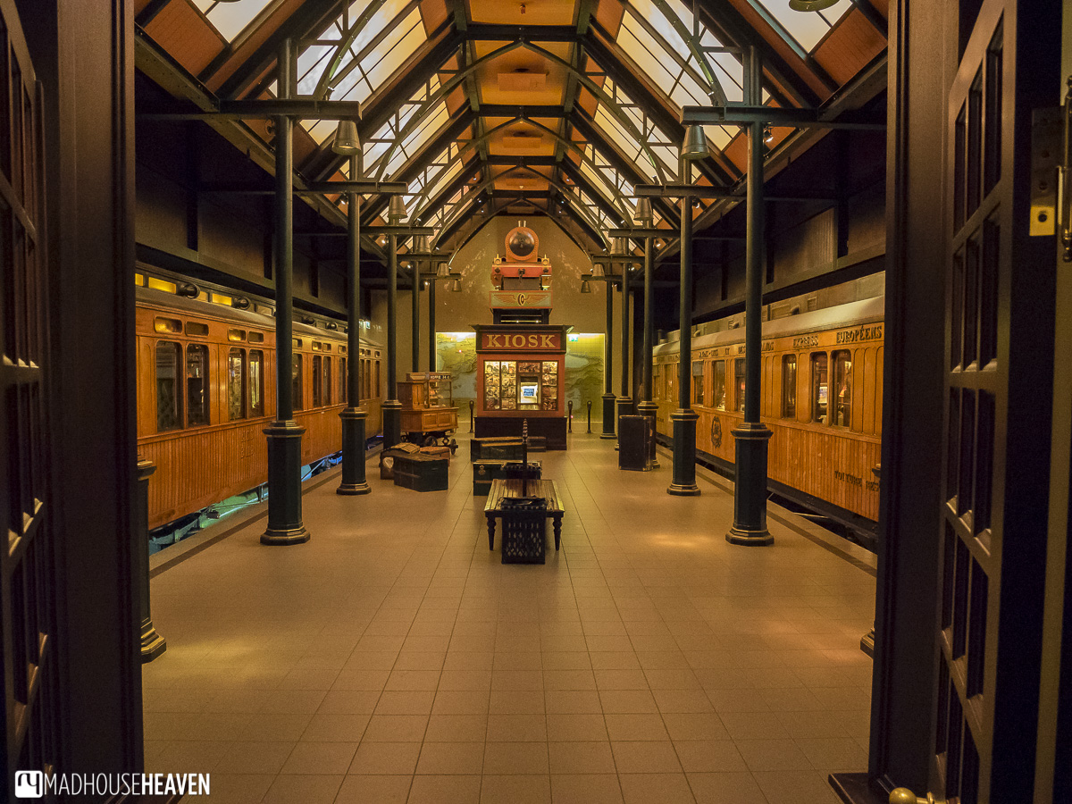 The Netherlands Railway Museum, train platform from the 1920's